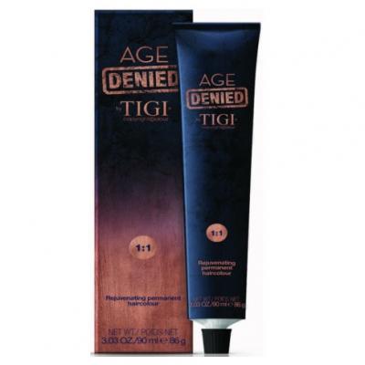 Tigi Copyright Colour Age Denied - Стойкая крем-краска для седых волос 4/30 (золотой натуральный коричневый) 90 мл